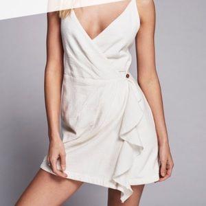 Free People White Wrap Mini Dress *NEW*